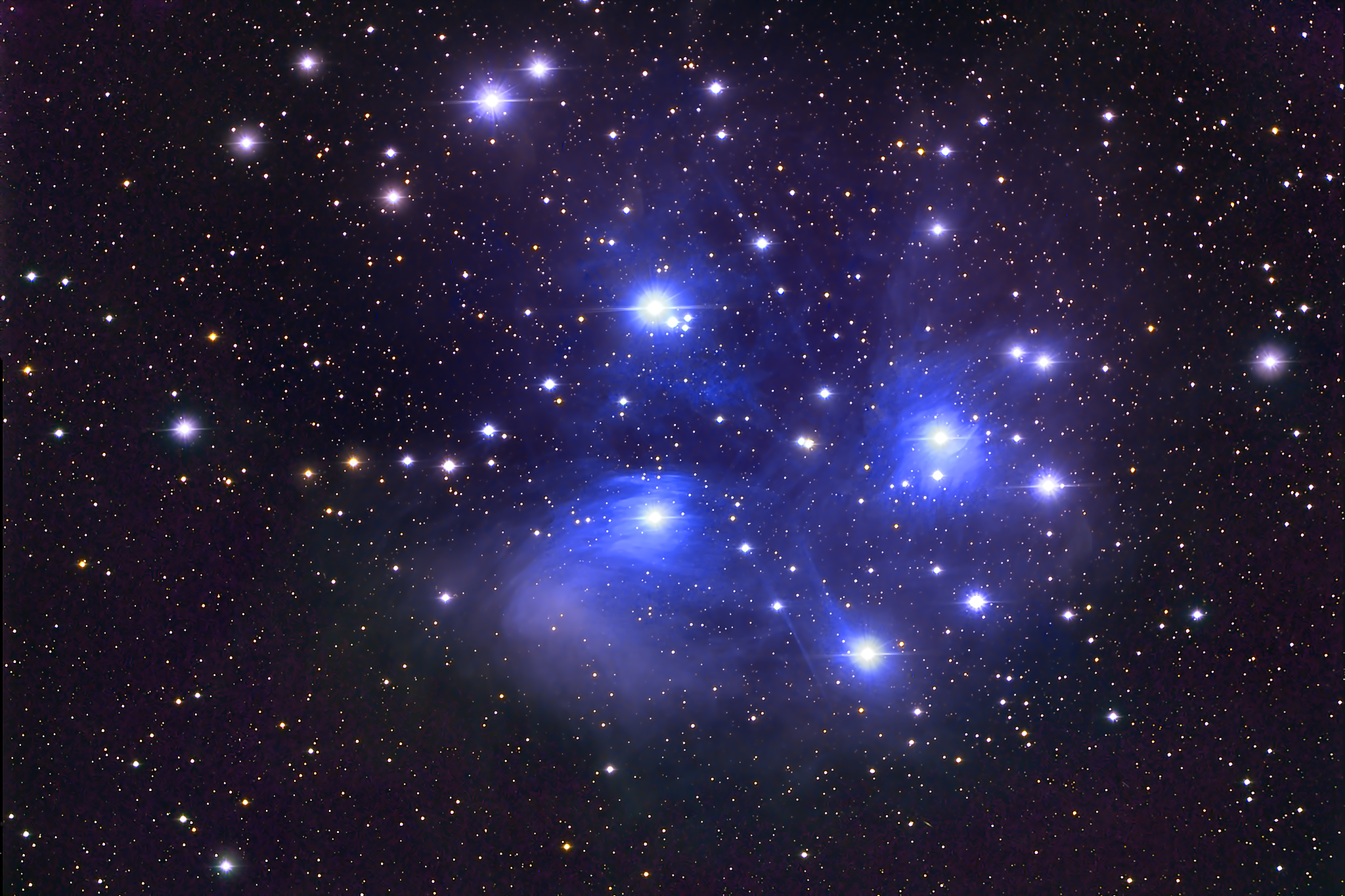 M45 The Pleiades Seven Sisters Deography By Dylan O