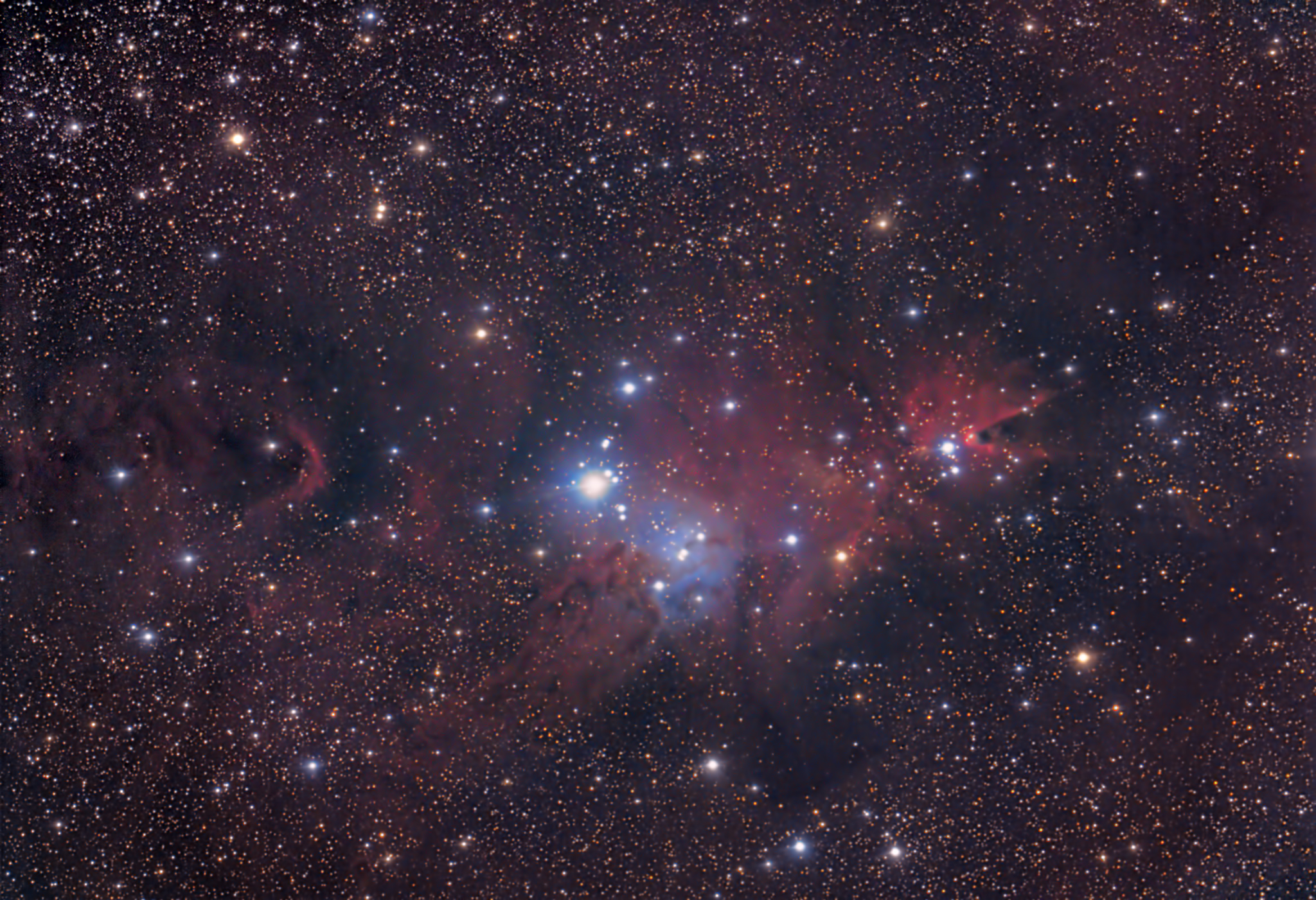 90s Christmas Tree.Christmas Tree Nebula Ng2264 Deography By Dylan O Donnell
